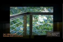 Videos of Aluminum & Stainless Steel Deck Railing with stainless steel cable railing / by Stainless Cable & Railing