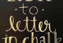 Chalkboard / by Jennifer Wyant