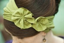 fabric flower love / by Christine Butler