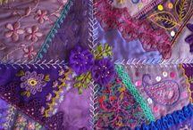Crazy quilt ideas. / by Elaine Mote