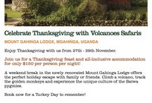 Volcanoes Safaris Special Offers. /  Special offers to the Volcanoes Safaris lodges.  / by Volcanoes Safaris