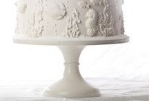 Ivory Wedding Cake Stands / The most gorgeous cake designs on Sarah's Stands Vintage Lace (Ivory) cake stands.  / by Sarah's Stands