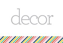 S E C T I O N :: Decor / items to purchase for home, arranged according to item type / by Pencil Shavings Studio