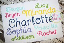 Embroidery Fonts / by Emily Meyette-Romack