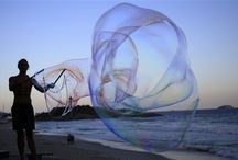 World Cup Soccer and Bubbles! / German street artist Florian Timm, 27, creates giant soap bubbles on Ipanema beach in Rio de Janeiro, Brazil celebrating World Cup Soccer.  / by Extreme Bubbles, Inc.