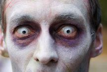 """Bump in the night / """"Something wicked this way comes"""". Creepy, strange, FX makeup / by Angela Ford"""