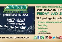 Miller Lite Party in the Park After Dark - Christmas in July / Come get festive with us at Party in the Park After Dark Christmas in July! Bust out those Ugly Christmas Tank Tops and Deck the Halls with us on July 25! / by Arlington International Racecourse
