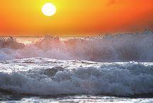 beaches oceans sunsets / by Vicki Denton