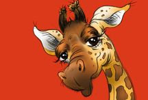 Giraffe art / by Sherry Soetaert