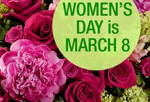 Women's Day / International Women's Day, observed annually on March 8, is a day to honor and celebrate the achievements of women from around the world. With efforts dating back as early as 1908, the occasion is an official holiday in 28 countries.  Take time to celebrate the amazing women we interact with on a daily basis and to express respect, appreciation and love. / by AboutFlowers