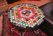bottle cap crafts / by Kathy Mcgowan