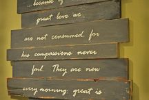 Scripture Inspired Wall Art and Mediums / by Shelley Dinsmore