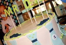 Parties- Little Man / Cookies & Milk Birthday Party / by Kat S.