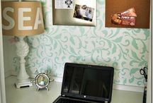 Beautiful Rooms--Craft Rooms  / Pretty and functional craft rooms / by Kara Cook (Creations by Kara)
