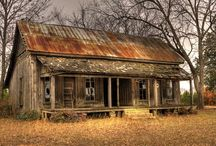 Abandoned And Forgotten Dwellings / Abandoned dwellings.  I see a lot of possibilites for writing prompts here / by Julie Abner-Abeita
