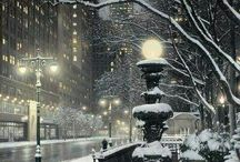 Cities In A Winter Wonderland! <3 / by ღ ♏☤ḯℨ☂αṧℌ ღ