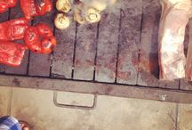 BBQ / Preparación de vegetales, pollo, carnes y mariscos al BBQ / by Annabelle Echeverría