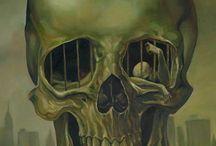 skulls and skeleton art / by dark melancholia