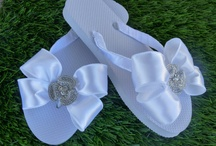 Bridal flip flops---- August 11,2013 / by Heidi Svitil