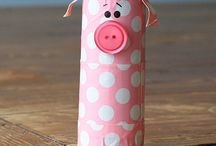 Toilet paper roll crafts and uses / by Kat