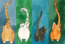 gatos en el arte / los gatos y su plasticidad son fuente inagotable para los artistas / by Graciela Blaisten