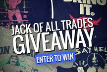 Jack of all Trades Giveaways / We're doing weekly giveaways, make sure you stay tuned and enter! / by Jack of All Trades Clothing