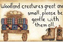 Woodland&Cabin, camping clipart♥ / by Rhonda Fogle