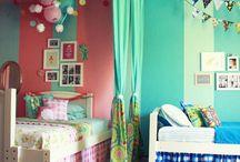 Shared kids room ideas / by Jessica Concha-Mosera