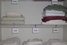 Operation Organize Linen Closet / by Priscilla Stephens