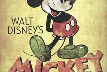 All Things Disney / I have been a Disney Fan all of my life and love all things Disney, Especially Vintage Mickey Mouse / by ArtzeeChris aka Chris Marlow
