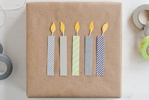 gift wrap ideas. / I like to make gift giving special. Handmade bows, wrapping and cards - it's all here! / by Mom Spark
