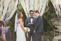 Backdrops, Canopies & Ribbons / Using a variety of ribbon and colored materials you can easily make a unique backdrop for either your ceremony, main table, dance floor and more...Plus they can fit into even the tiniest budget and have a dramatic effect. / by Natural Nostalgia