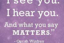 The Oprah Board / by POPSUGAR Smart Living