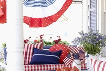 red. // white. // blue. / projects and decorations celebrating the USA! / by cheryl @ a pretty cool life.