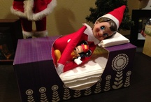 Cutie the elf on a shelf.  / by Jennifer Bielek Clifford