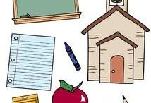 School--clip art & fonts / by Kristi Franks