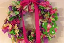 Wreaths/ Ribbon & Rags / by Sherri Hall