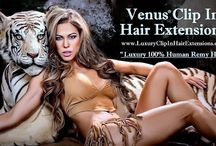 Best Clip In Hair Extensions by Ciao Bella and Venus Hair Extensions Supply / Buy Clip In Hair Extensions - the Best Human Remy Hair Brand, Online at Ciao Bella and Venus Hair Extensions Supply : Contains 140-grams of hair in 20 in., and 6-pcs. : www.ciaobellaextensions.com/clip_in_hair_extensions.html / by Ciao Bella and Venus Hair Extensions Supply