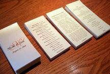 Invitations / Save the Date / programs / by Judy Van Kleef