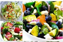 Salad Recipes / Find all kinds of salad recipes here from main dishes to sides. / by Melissa Hurst {SavingCentsWithSense.net}