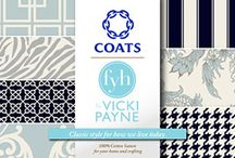 FYH FABRICS AT @WALMART / I'm so pleased to announce my line of 'For You Home' line fabrics with @CoatsandClark. These affordable and stylish fabrics are now available at @Walmart stores nationwide. #foryourhome / by Vicki Payne