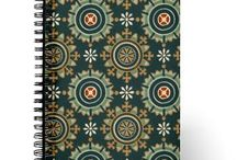 Journals / Journal covers you can buy and add one of four different pages to fill them. Choose from blank, dot grid, lined or organizers with any cover. Spiral bound with flexible front covers they are bright colored and well made. / by Lasgalen Arts