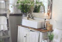 Farmhouse Master Bath. / by Maci Rucker