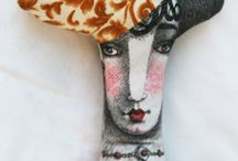 Craft projects - art dolls / by Mariruth Brown