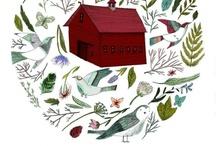 illustration / by Rebecca Sower Designs