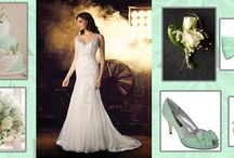 """Mint To Be"" Wedding Inspiration / Minty blue wedding color inspiration / by Impression Bridal"