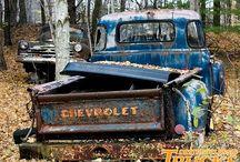 neat old trucks / by Julie Farrar-Hurley