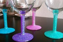 Wine glass ideas / by Melissa Esposito