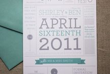 Wedding invitations / by Allen Arrick