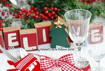 Xmas table setting  / by norma aguila